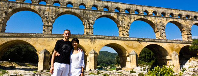 Me & Frenchie At The Pont du Gard