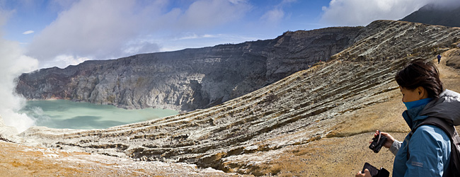 Panoramic View Of The Crater