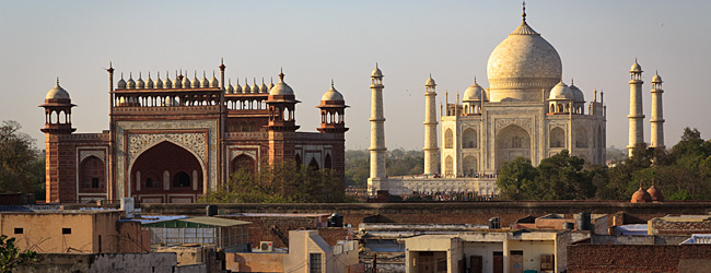 View Of Taj Mahal From Rooftop