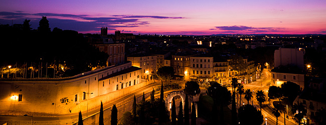 Nightfall From The Corum Montpellier